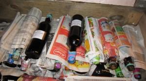 Так бутылки с вином хранятся в погребе
